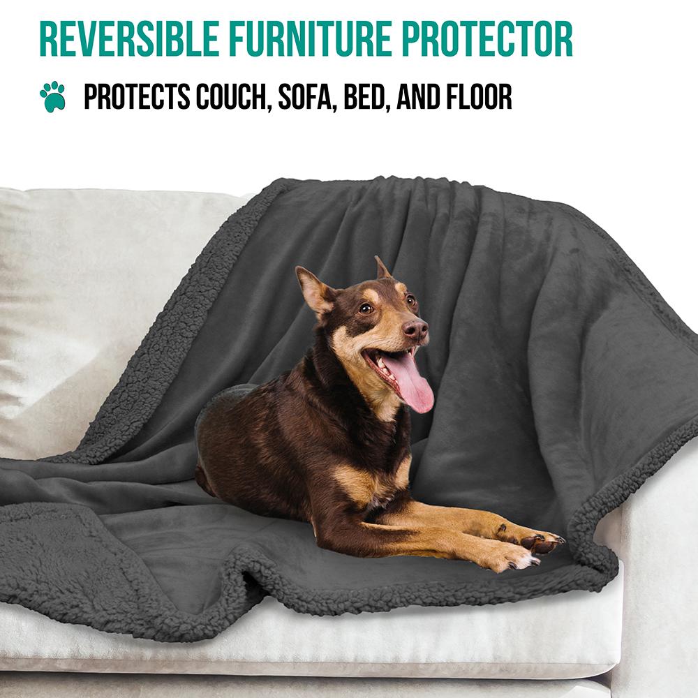 thumbnail 39 - Dog Blanket for Medium Large Dogs Pet Soft Fleece Durable Warm Sherpa Reversible