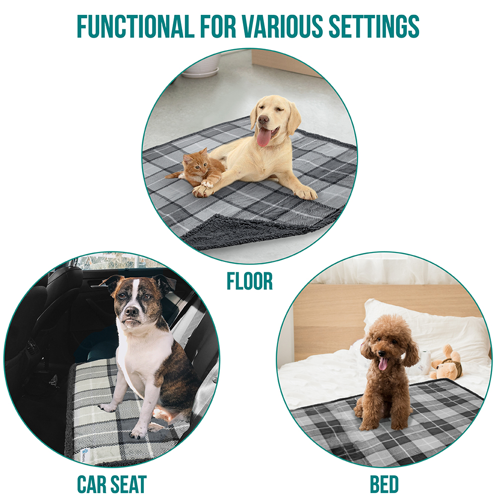 thumbnail 47 - Dog Blanket for Medium Large Dogs Pet Soft Fleece Durable Warm Sherpa Reversible