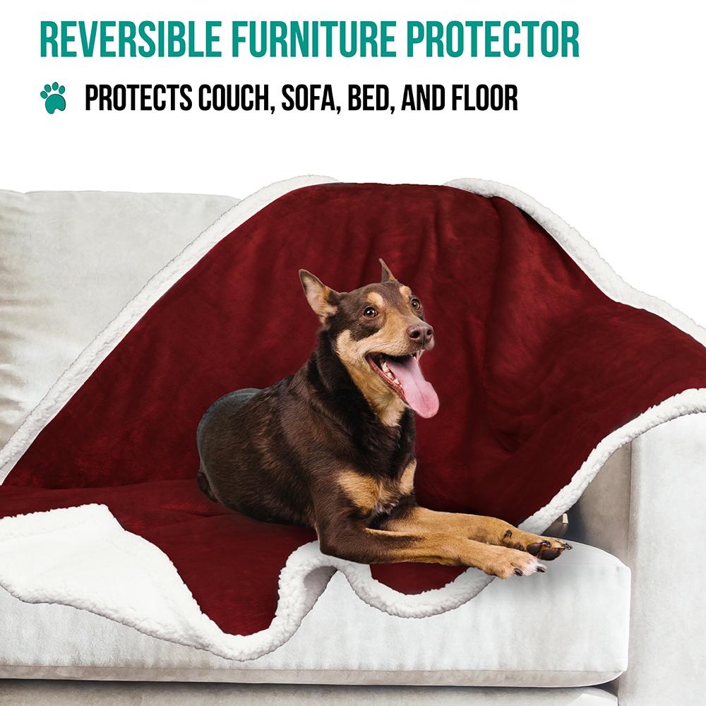 thumbnail 90 - Dog Blanket for Medium Large Dogs Pet Soft Fleece Durable Warm Sherpa Reversible