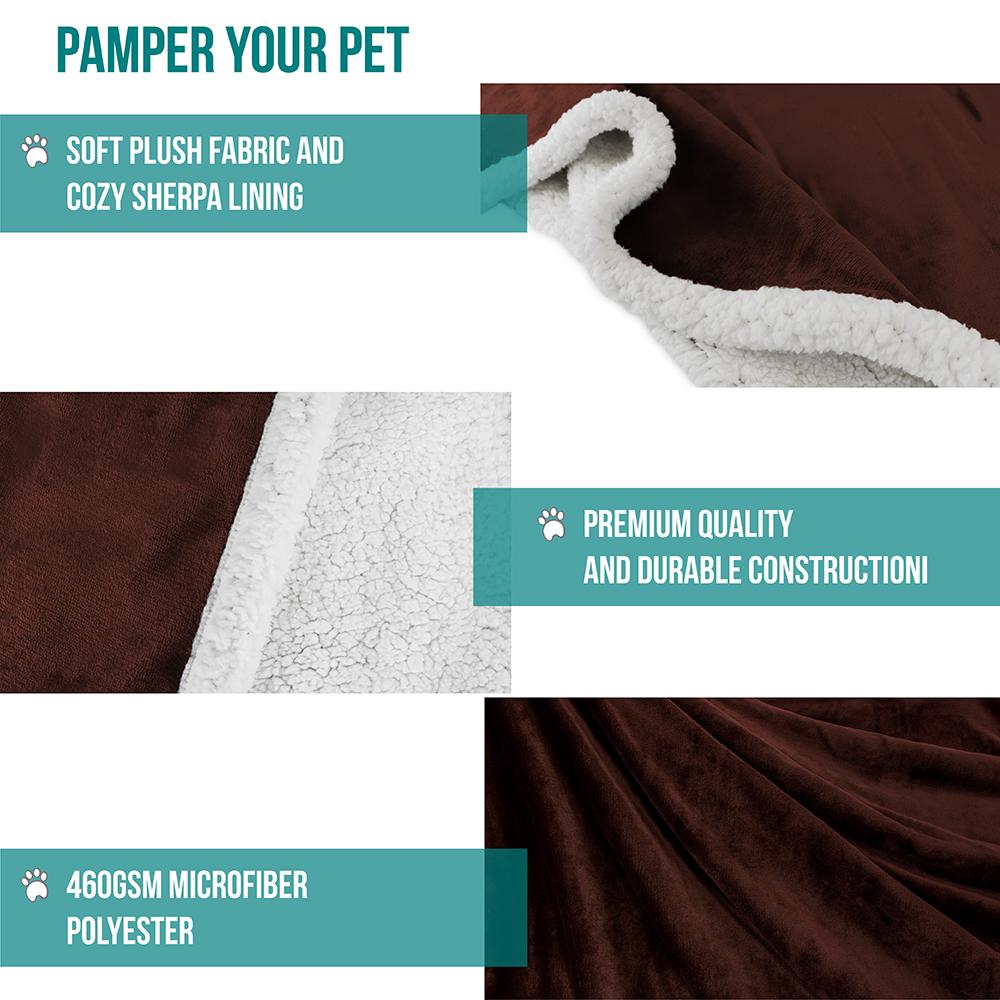 thumbnail 20 - Dog Blanket for Medium Large Dogs Pet Soft Fleece Durable Warm Sherpa Reversible