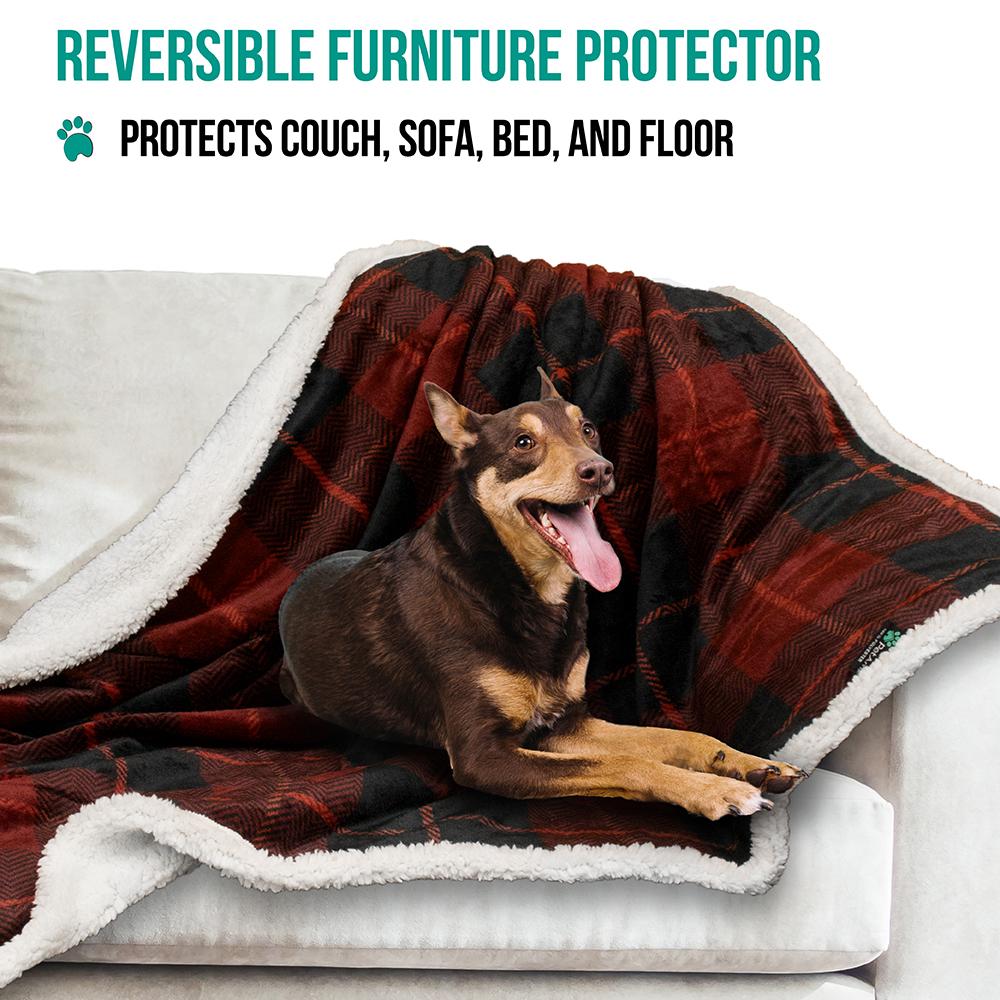 thumbnail 64 - Dog Blanket for Medium Large Dogs Pet Soft Fleece Durable Warm Sherpa Reversible
