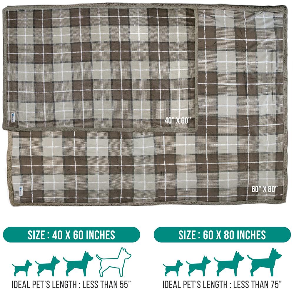 thumbnail 73 - Dog Blanket for Medium Large Dogs Pet Soft Fleece Durable Warm Sherpa Reversible