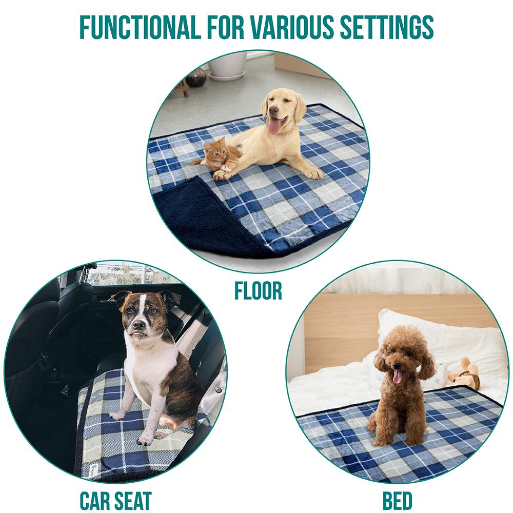thumbnail 59 - Dog Blanket for Medium Large Dogs Pet Soft Fleece Durable Warm Sherpa Reversible