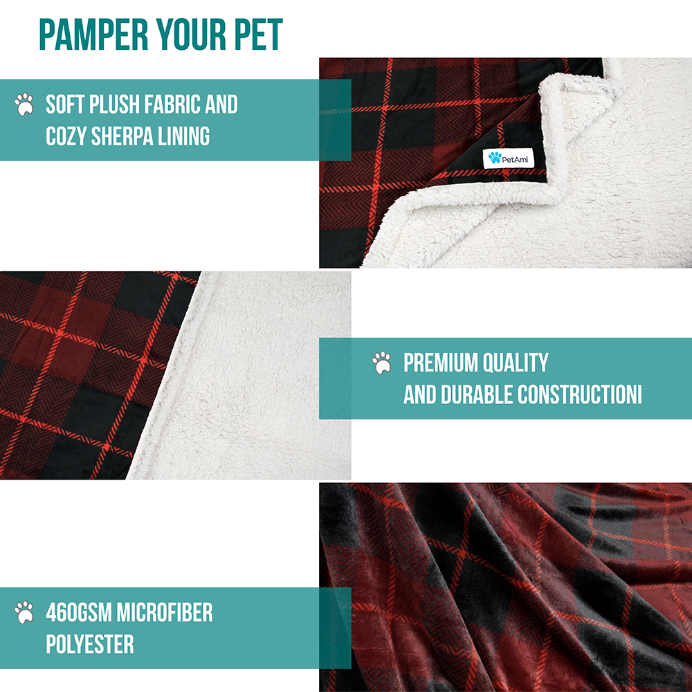thumbnail 66 - Dog Blanket for Medium Large Dogs Pet Soft Fleece Durable Warm Sherpa Reversible