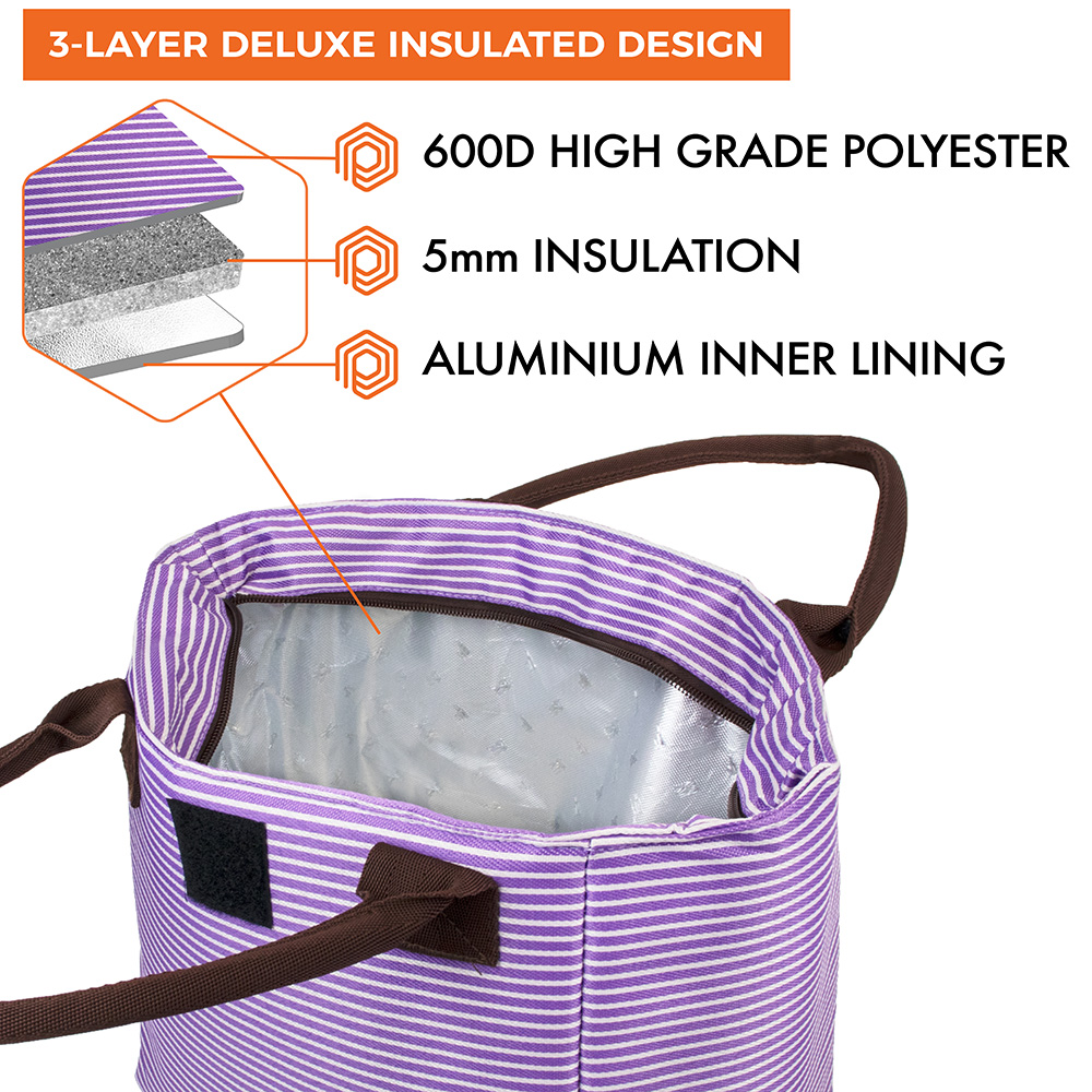 miniature 47 - Lunch Bag for Women Thermal Insulated Lunch Food Tote Purse Work Office Picnic