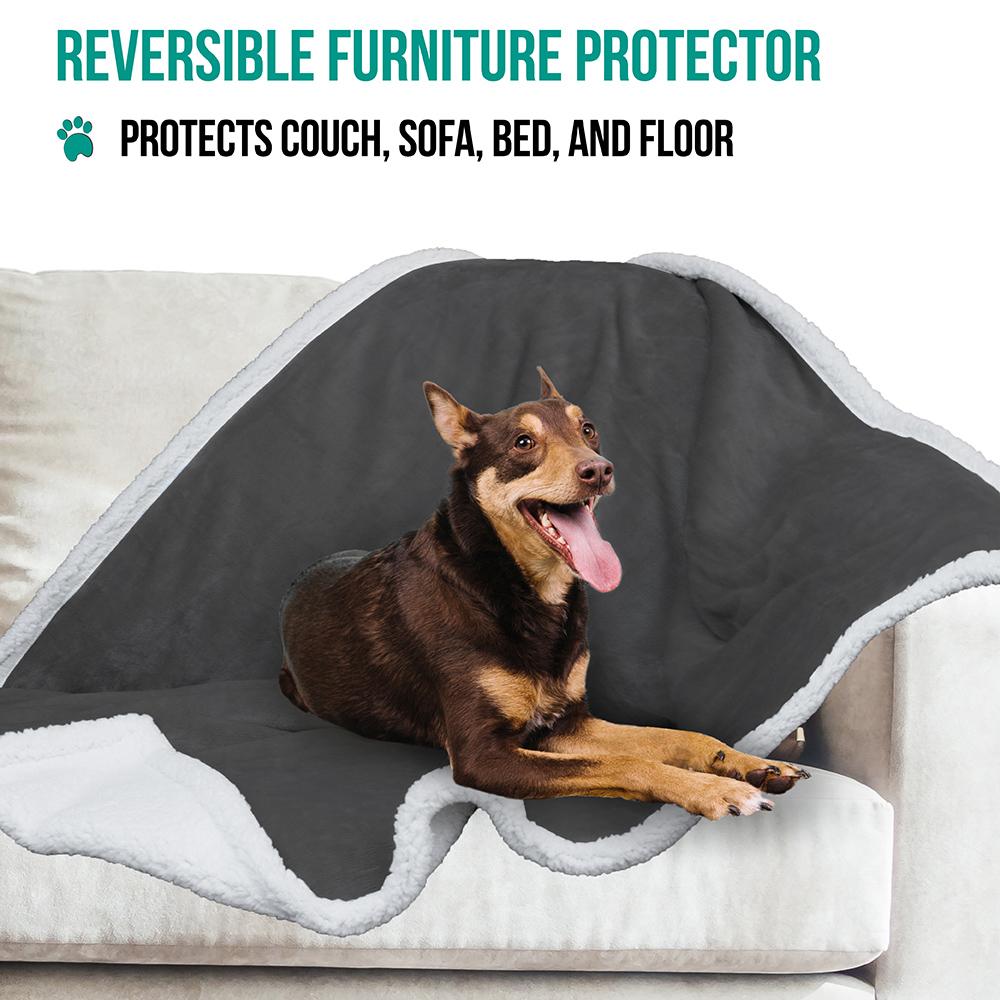 thumbnail 25 - Dog Blanket for Medium Large Dogs Pet Soft Fleece Durable Warm Sherpa Reversible