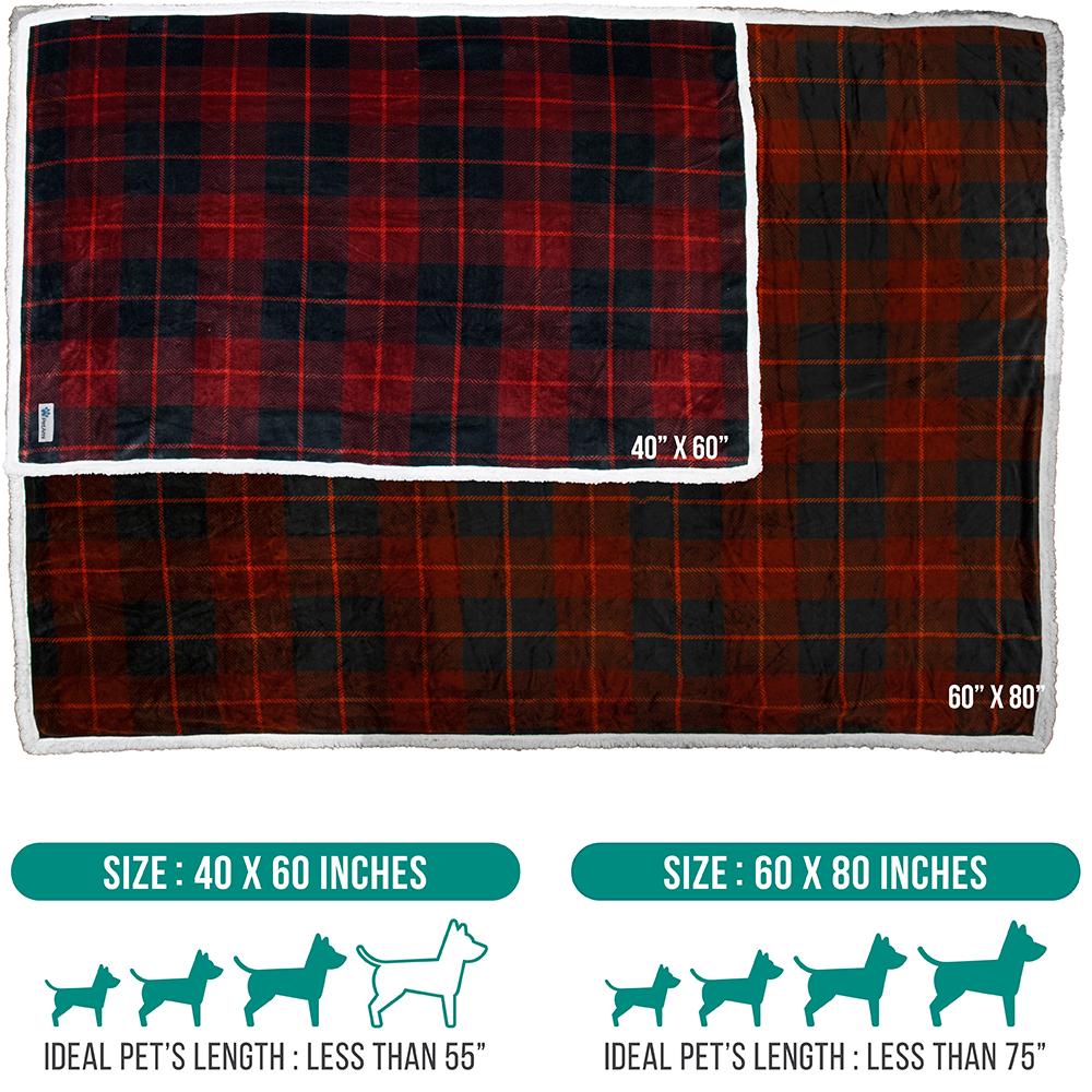 thumbnail 67 - Dog Blanket for Medium Large Dogs Pet Soft Fleece Durable Warm Sherpa Reversible