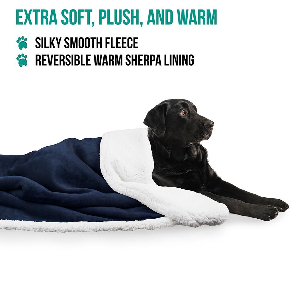 thumbnail 10 - Dog Blanket for Medium Large Dogs Pet Soft Fleece Durable Warm Sherpa Reversible