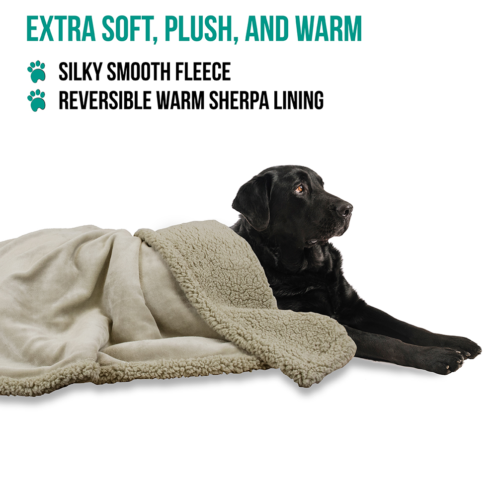 thumbnail 82 - Dog Blanket for Medium Large Dogs Pet Soft Fleece Durable Warm Sherpa Reversible