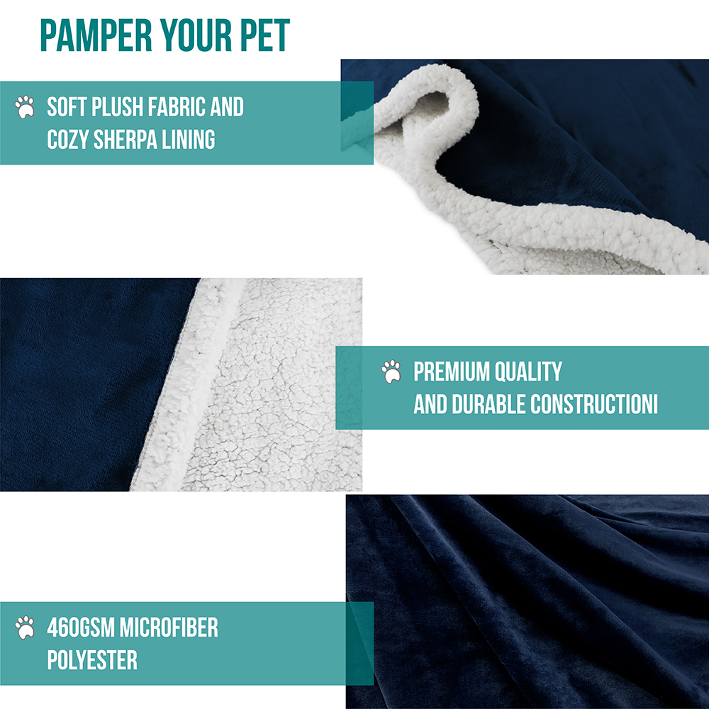 thumbnail 13 - Dog Blanket for Medium Large Dogs Pet Soft Fleece Durable Warm Sherpa Reversible
