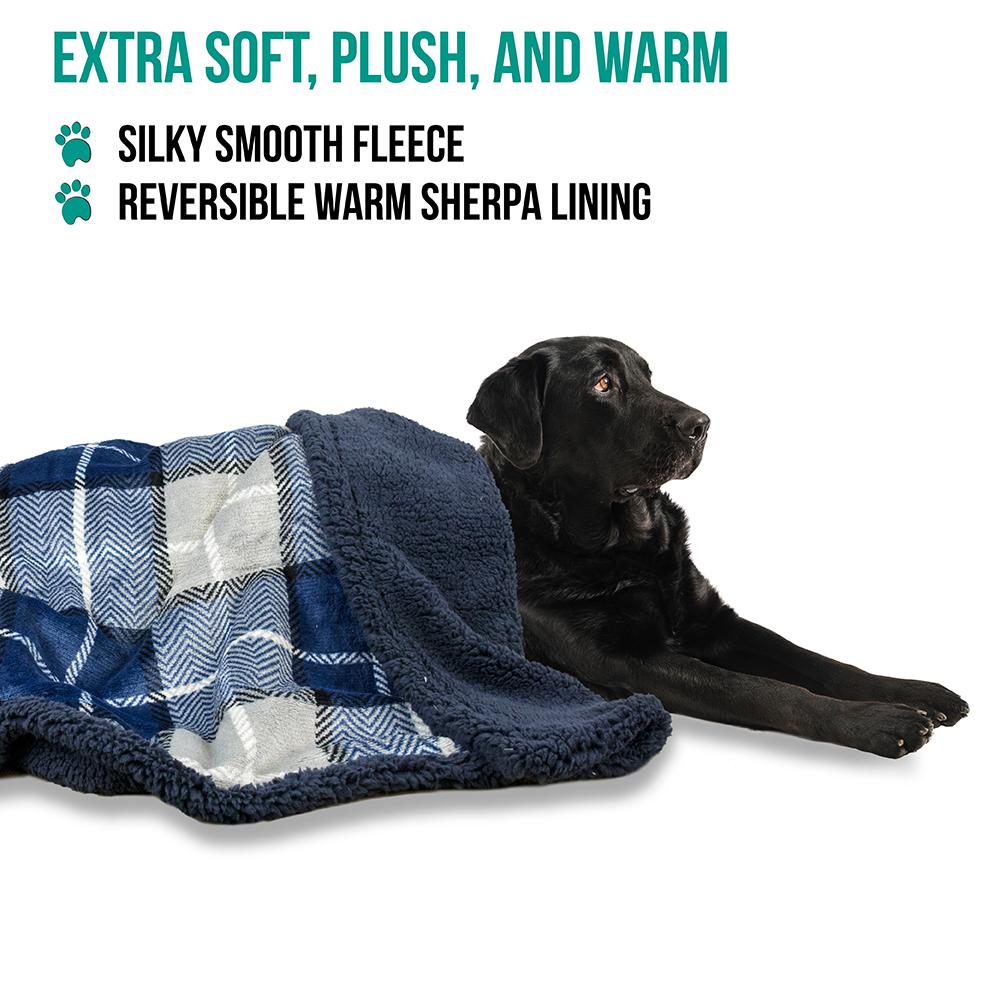 thumbnail 57 - Dog Blanket for Medium Large Dogs Pet Soft Fleece Durable Warm Sherpa Reversible