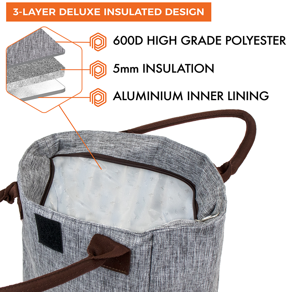 miniature 19 - Lunch Bag for Women Thermal Insulated Lunch Food Tote Purse Work Office Picnic