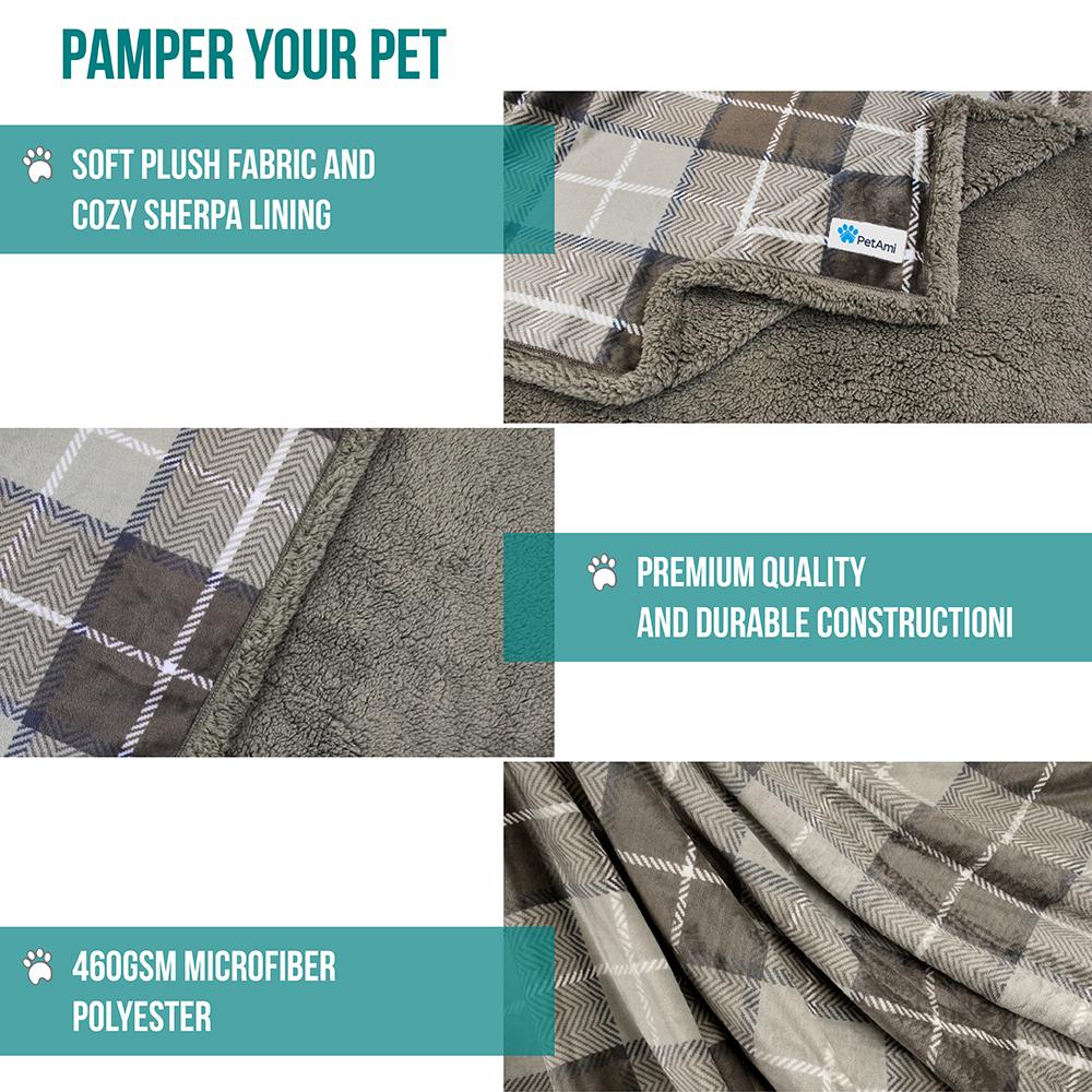 thumbnail 72 - Dog Blanket for Medium Large Dogs Pet Soft Fleece Durable Warm Sherpa Reversible