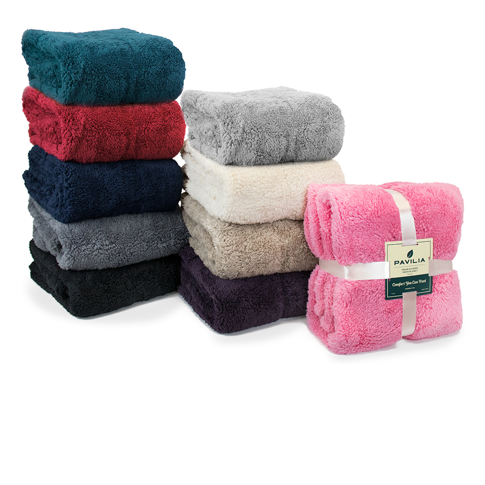 Soft-Fuzzy-Warm-Cozy-Throw-Blanket-with-Fluffy-Sherpa-Fleece-for-Sofa-Couch-Bed thumbnail 96