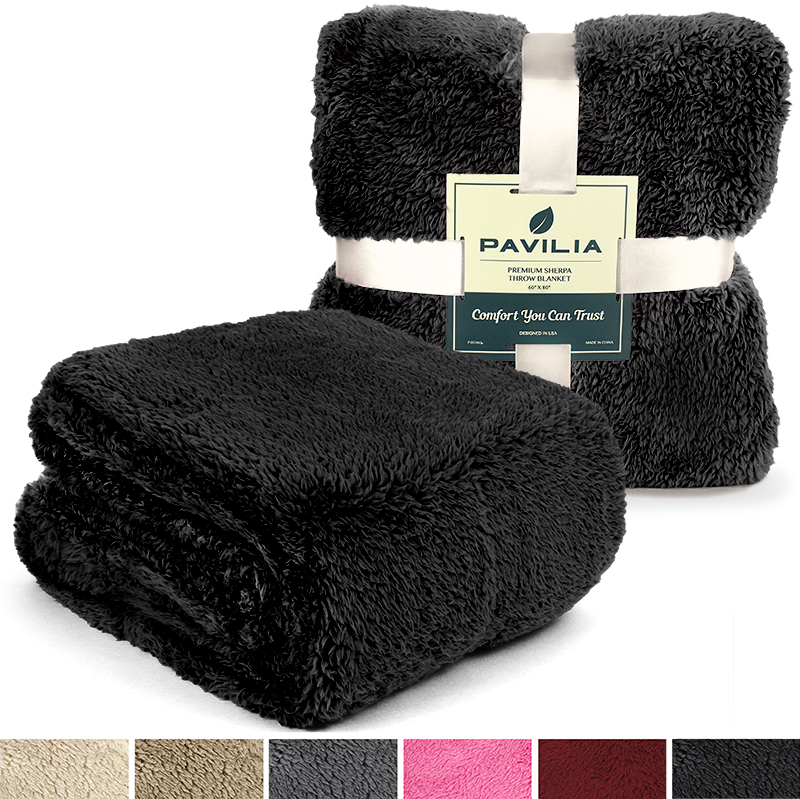 Soft-Fuzzy-Warm-Cozy-Throw-Blanket-with-Fluffy-Sherpa-Fleece-for-Sofa-Couch-Bed thumbnail 10