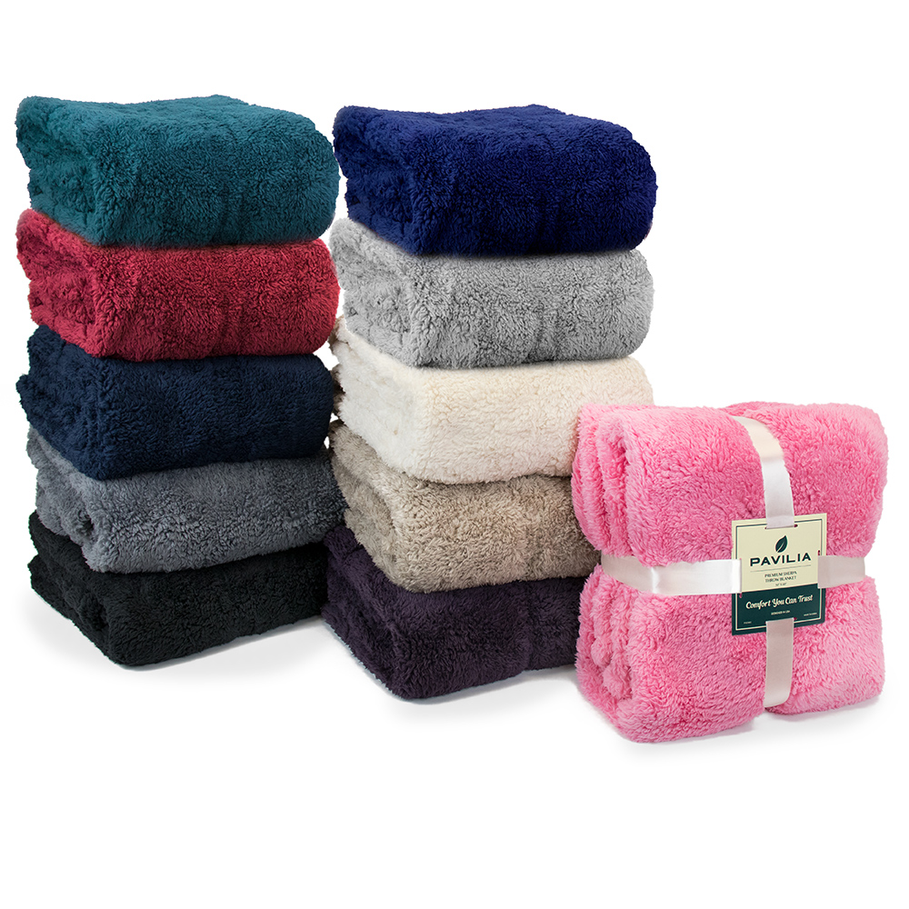 Soft-Fuzzy-Warm-Cozy-Throw-Blanket-with-Fluffy-Sherpa-Fleece-for-Sofa-Couch-Bed thumbnail 72