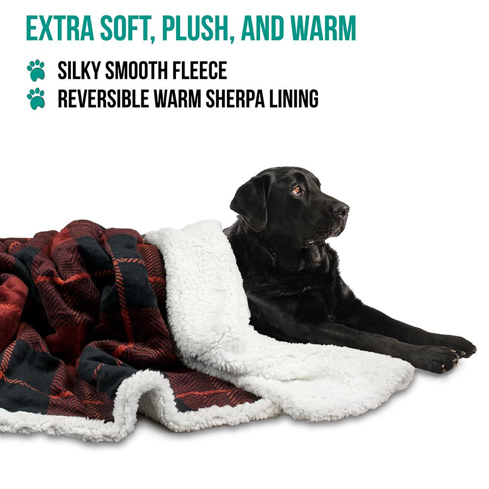 thumbnail 63 - Dog Blanket for Medium Large Dogs Pet Soft Fleece Durable Warm Sherpa Reversible