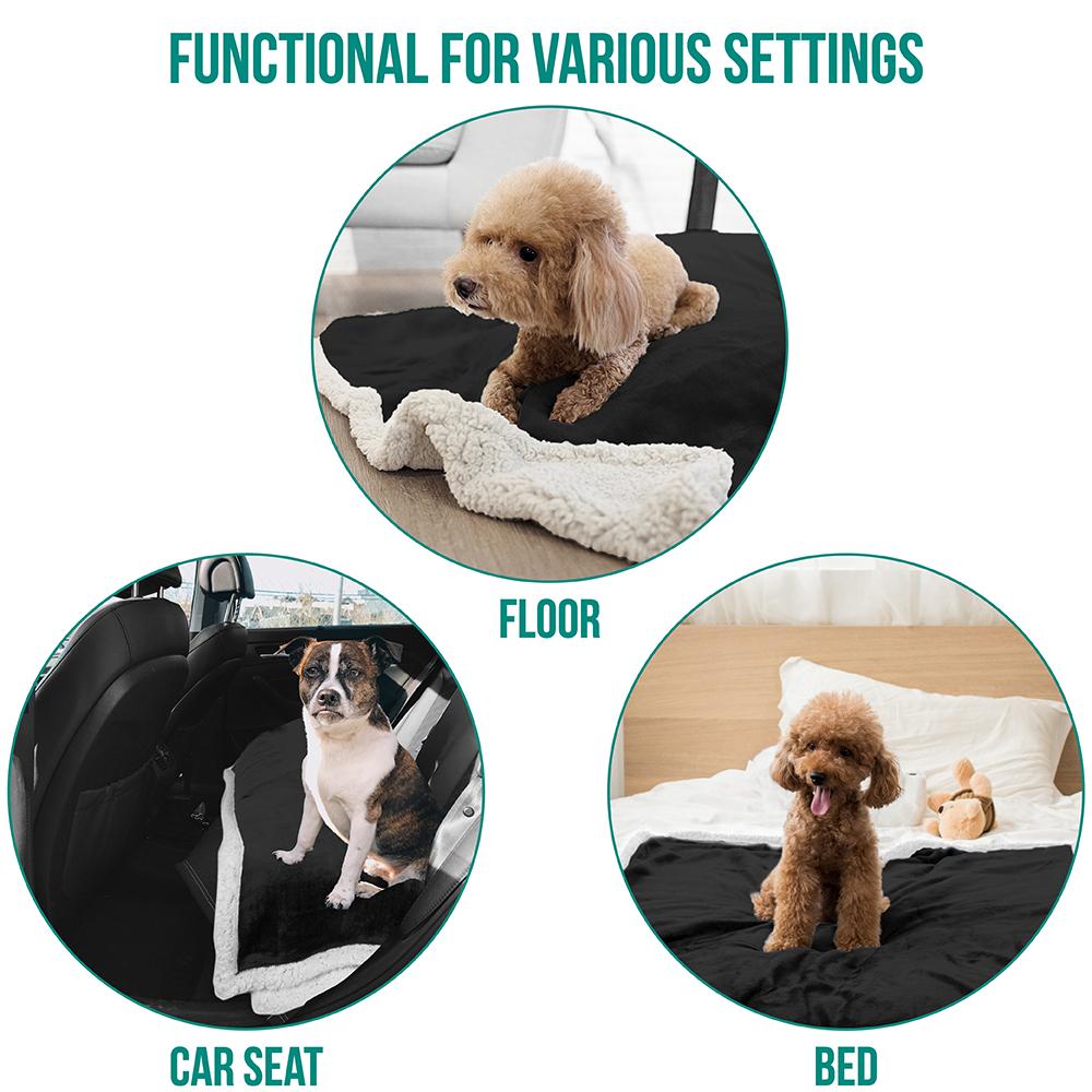 thumbnail 5 - Dog Blanket for Medium Large Dogs Pet Soft Fleece Durable Warm Sherpa Reversible