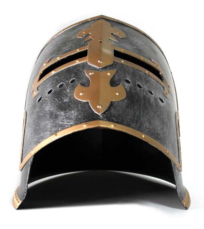 thumbnail 16 - Silver Pewter Knight Roman Armor Crusader Helmet Mask Medieval Adult Costume