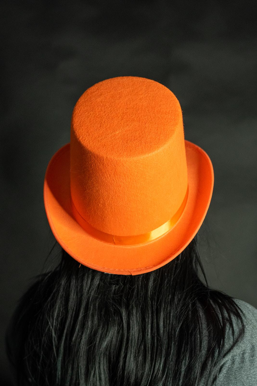 thumbnail 9 - Dumb and Dumber Orange Tall  Felt Top Hat Lloyd Christmas Costume Accessory