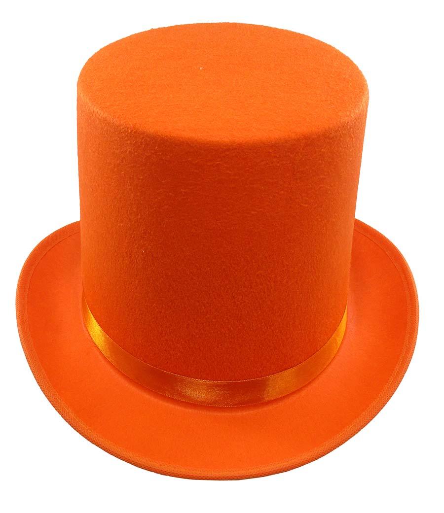 thumbnail 11 - Dumb and Dumber Orange Tall  Felt Top Hat Lloyd Christmas Costume Accessory