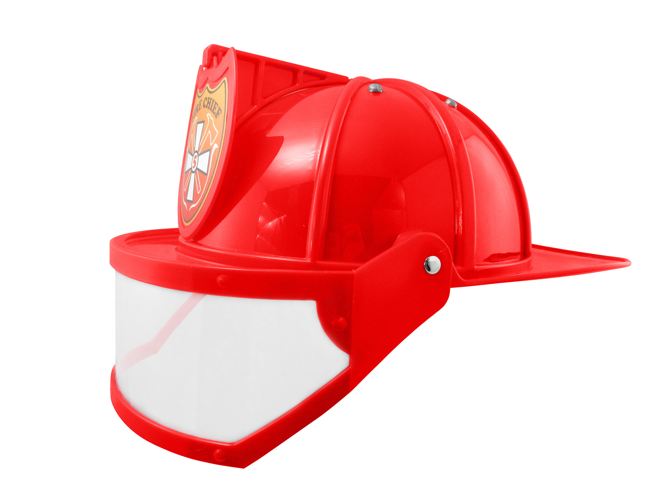 thumbnail 11 - Adult Child Fire Chief Firefighter Fireman Helmet with Visor Costume