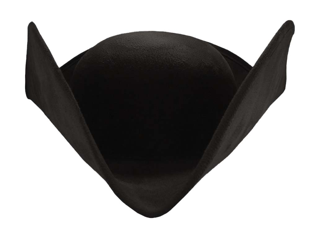 thumbnail 5 - Deluxe Adult Faux Suede Colonial Pirate Tricorn Tri-Corner Tricorne Costume Hat