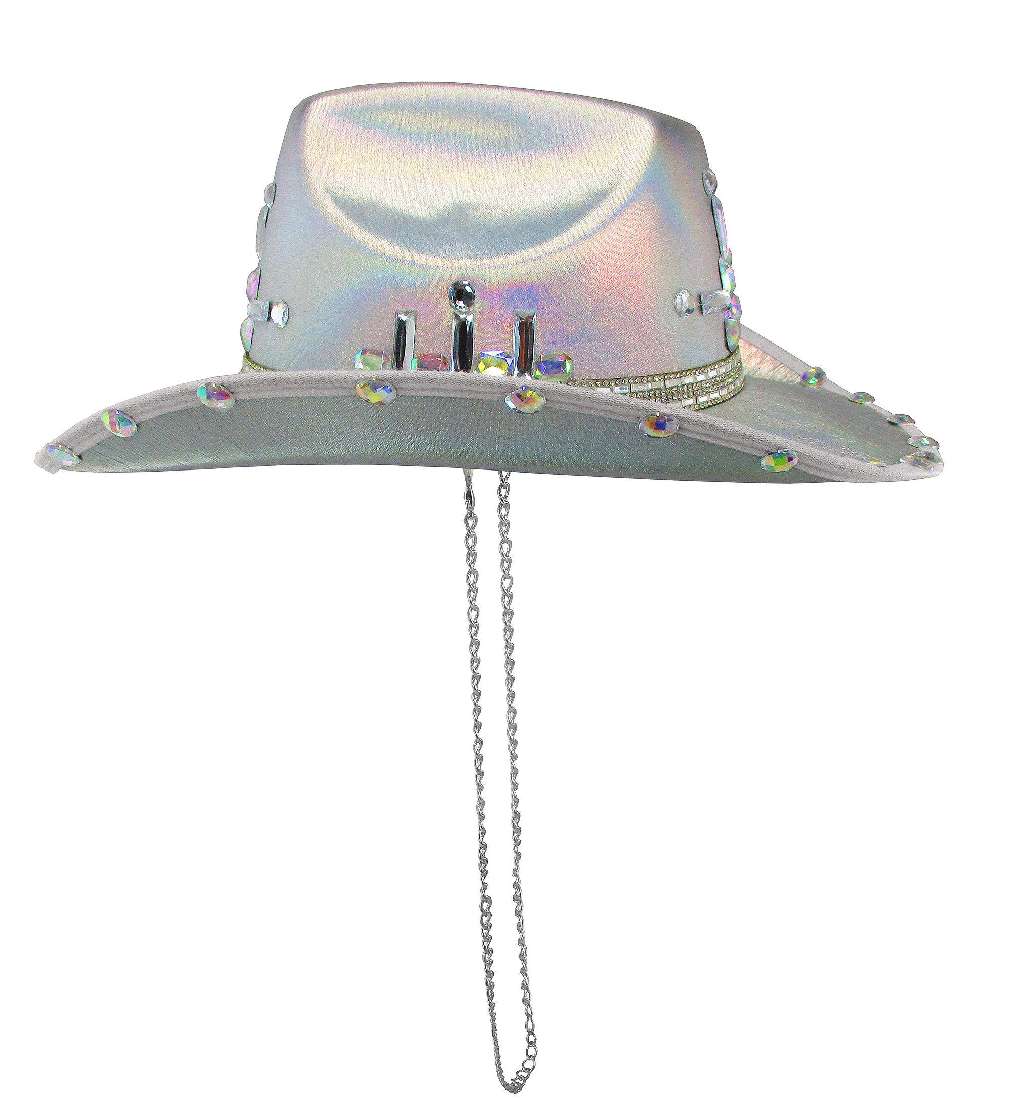 thumbnail 13 - Iridescent-Jewels-Gems-Gay-Pride-Festival-Bachelorette-Party-Cowgirl-Cowboy-Hat