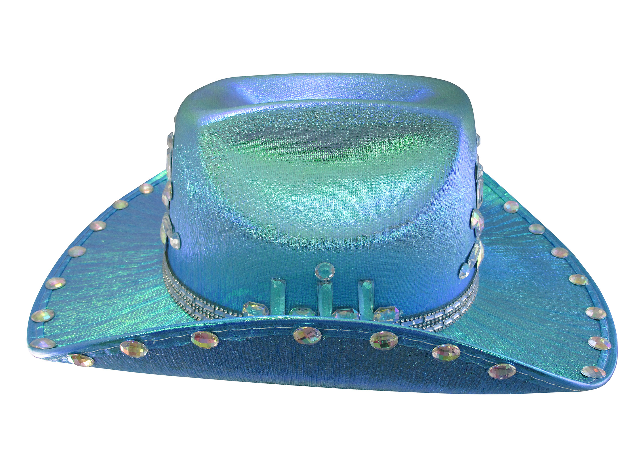 thumbnail 4 - Iridescent-Jewels-Gems-Gay-Pride-Festival-Bachelorette-Party-Cowgirl-Cowboy-Hat
