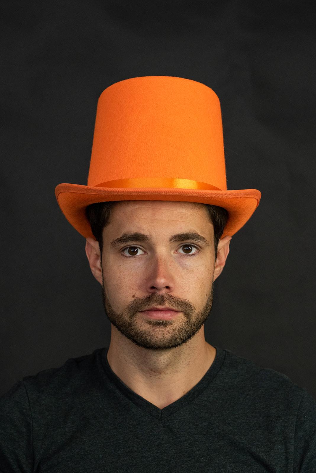 thumbnail 6 - Dumb and Dumber Orange Tall  Felt Top Hat Lloyd Christmas Costume Accessory