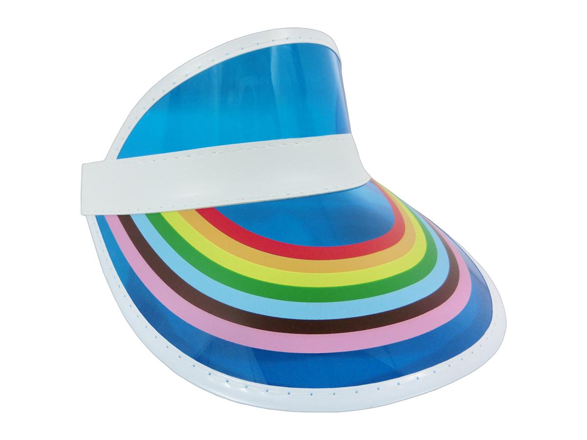 thumbnail 2 - Retro Rainbow Color Sun Visor Beach Plastic Vegas Golf LGBTQ Gay Pride Hat