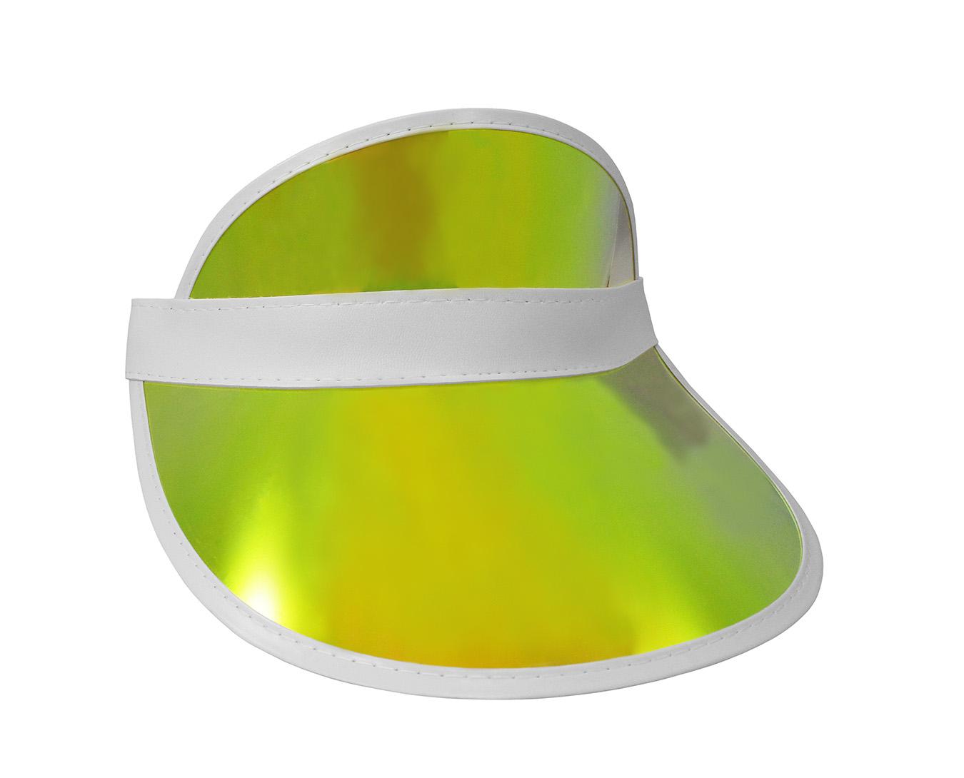 thumbnail 3 - Tennis-Beach-Iridescent-Mirrored-Plastic-Sun-Vegas-Golf-Casino-Visor-Hat-Qty-3
