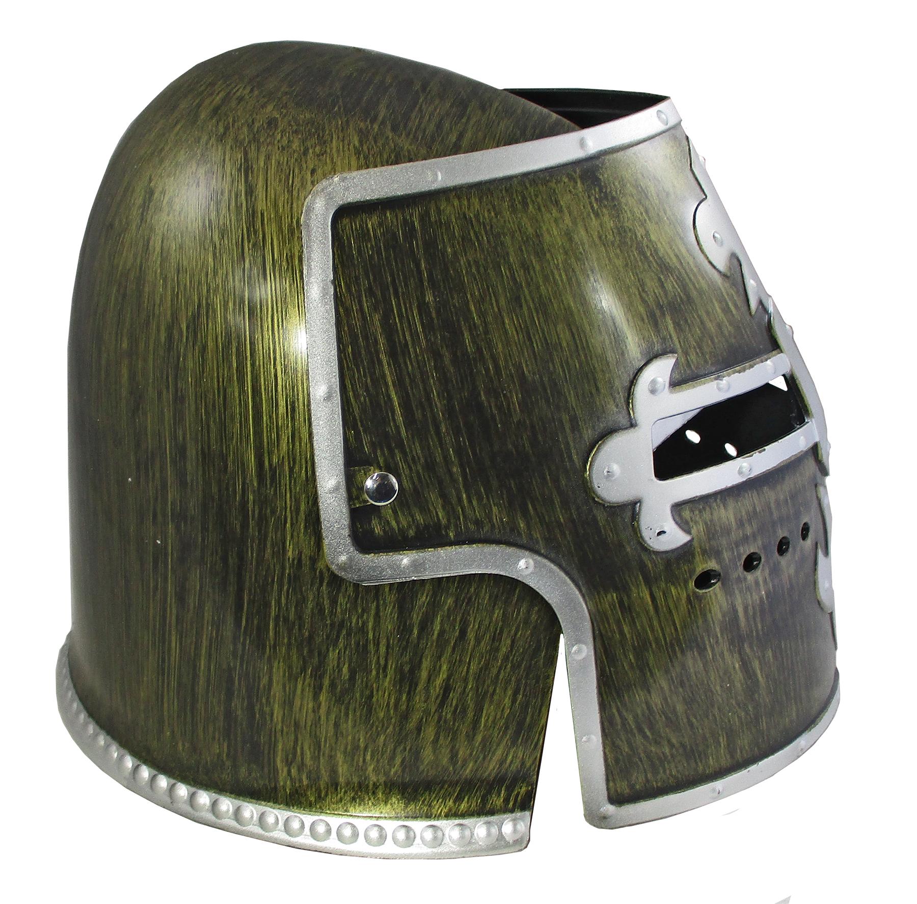 thumbnail 4 - Silver Pewter Knight Roman Armor Crusader Helmet Mask Medieval Adult Costume