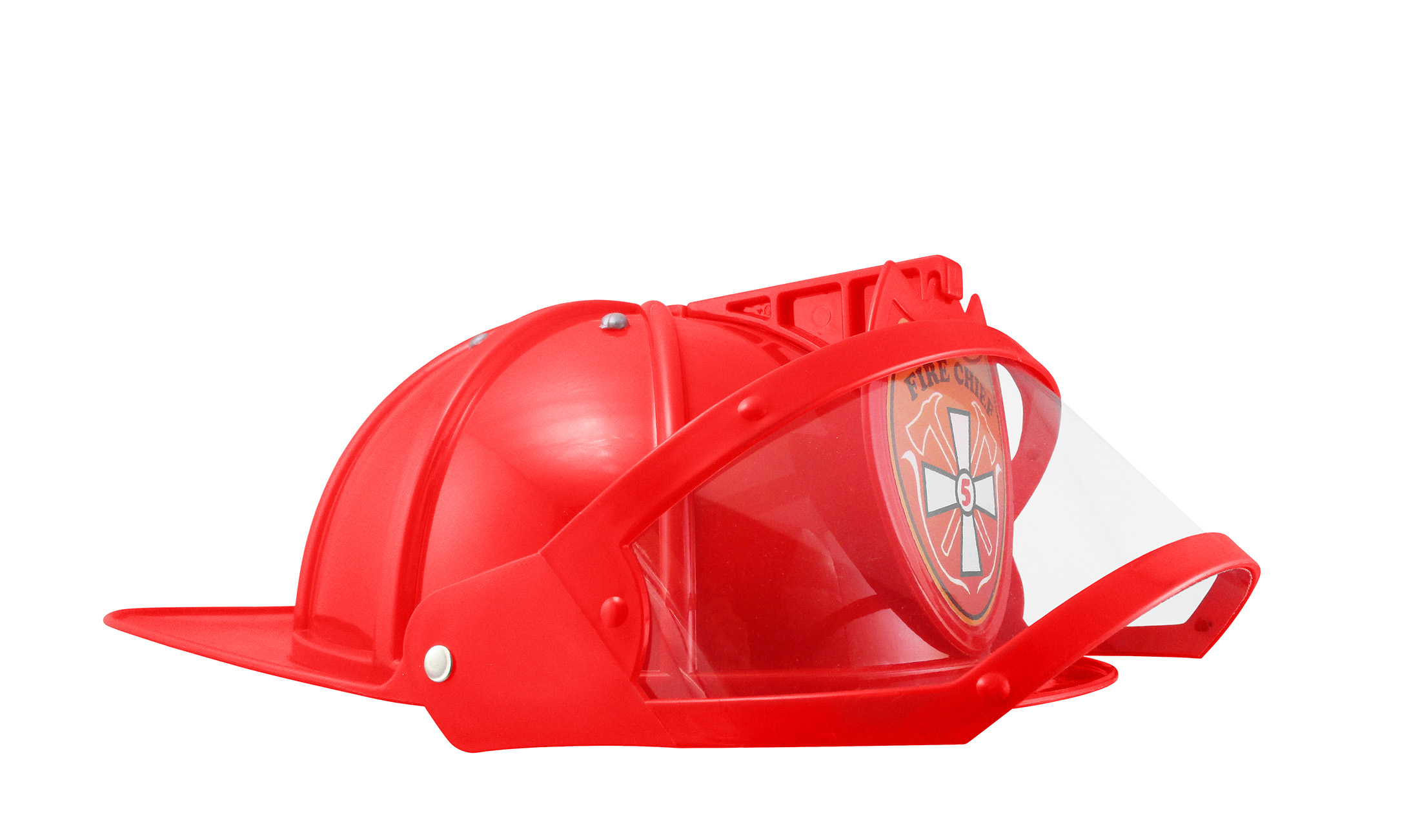 thumbnail 9 - Adult Child Fire Chief Firefighter Fireman Helmet with Visor Costume