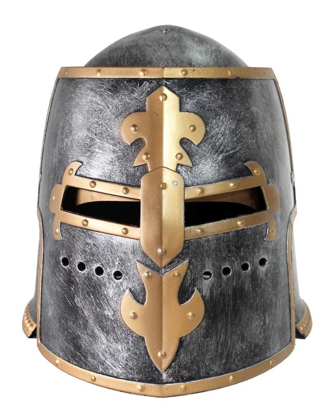thumbnail 12 - Silver Pewter Knight Roman Armor Crusader Helmet Mask Medieval Adult Costume