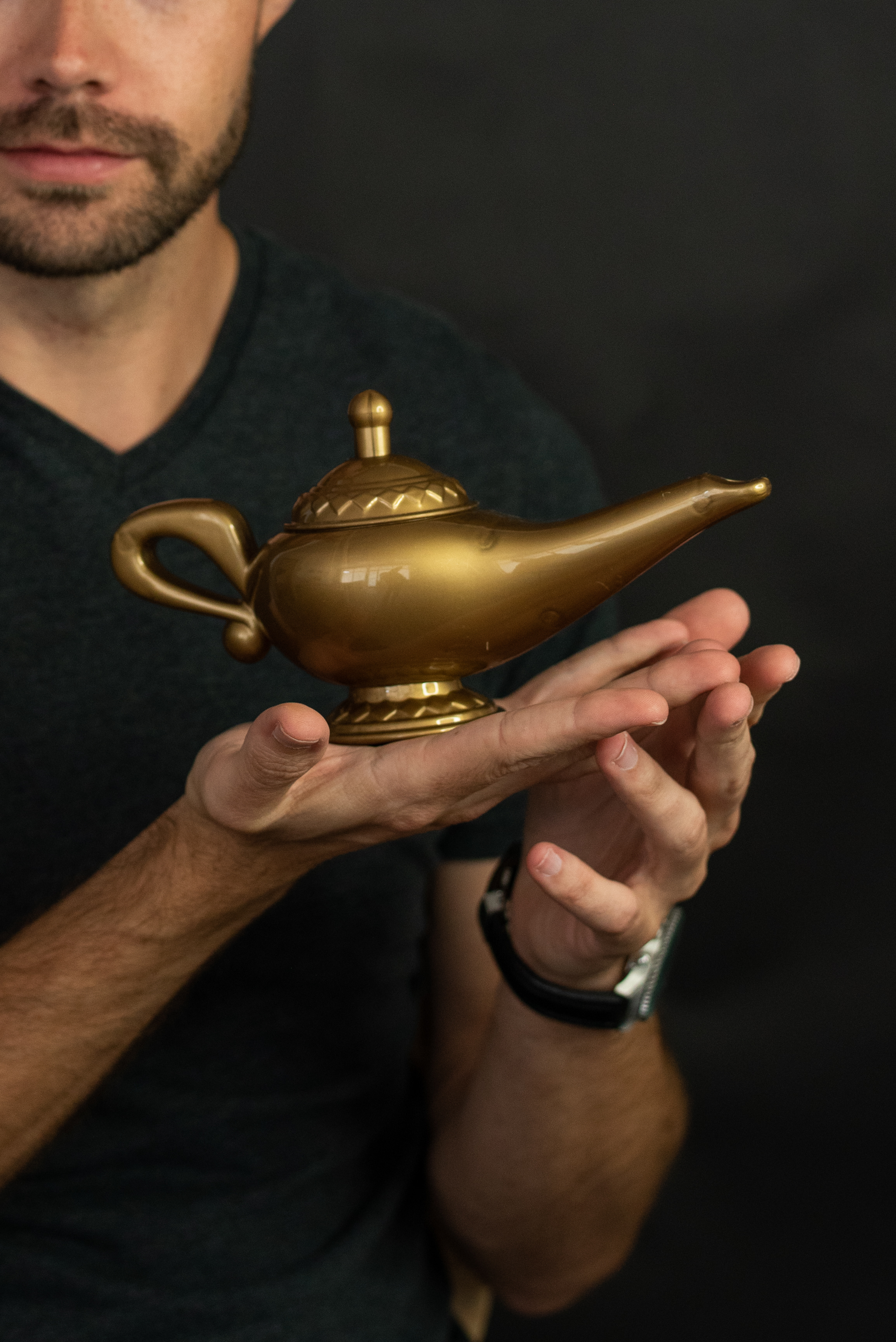 thumbnail 3 - Gold-Genie-Lamp-Plastic-Costume-Accessory-Magical-Prince-Prop-Decoration