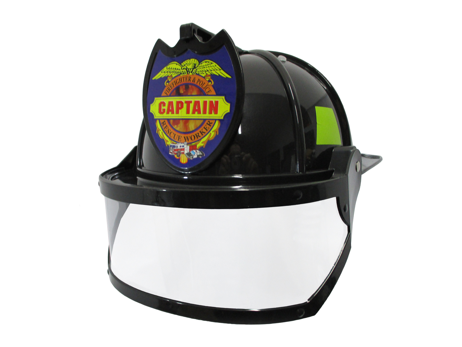 thumbnail 7 - Adult Child Fire Chief Firefighter Fireman Helmet with Visor Costume