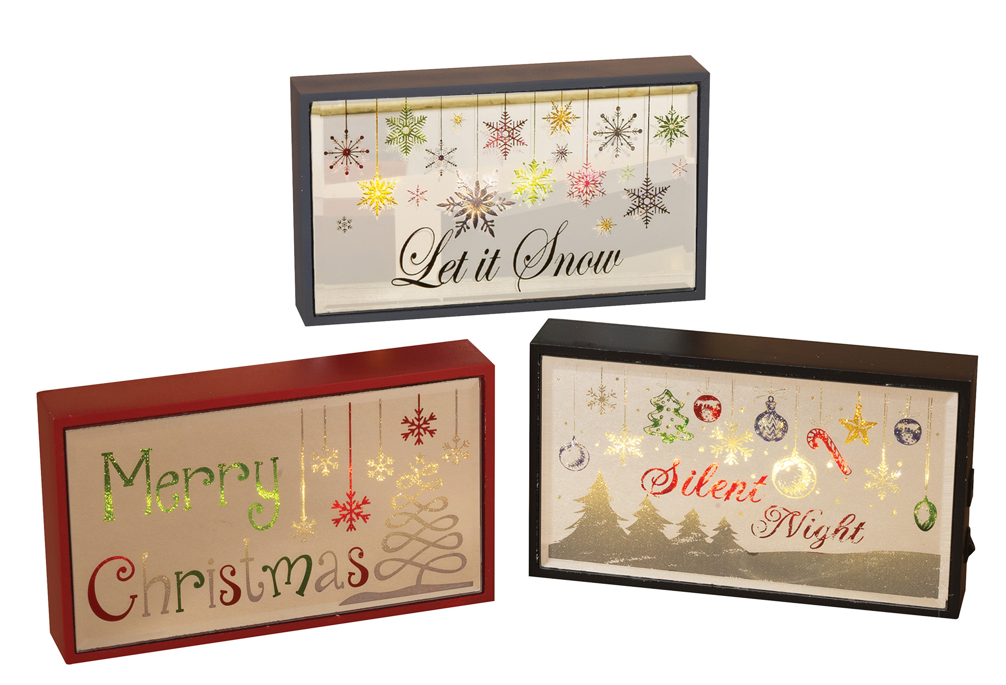 Light Up Wooden Merry Christmas Signs Led Rustic Plaques Tabletop Holiday Decor Ebay