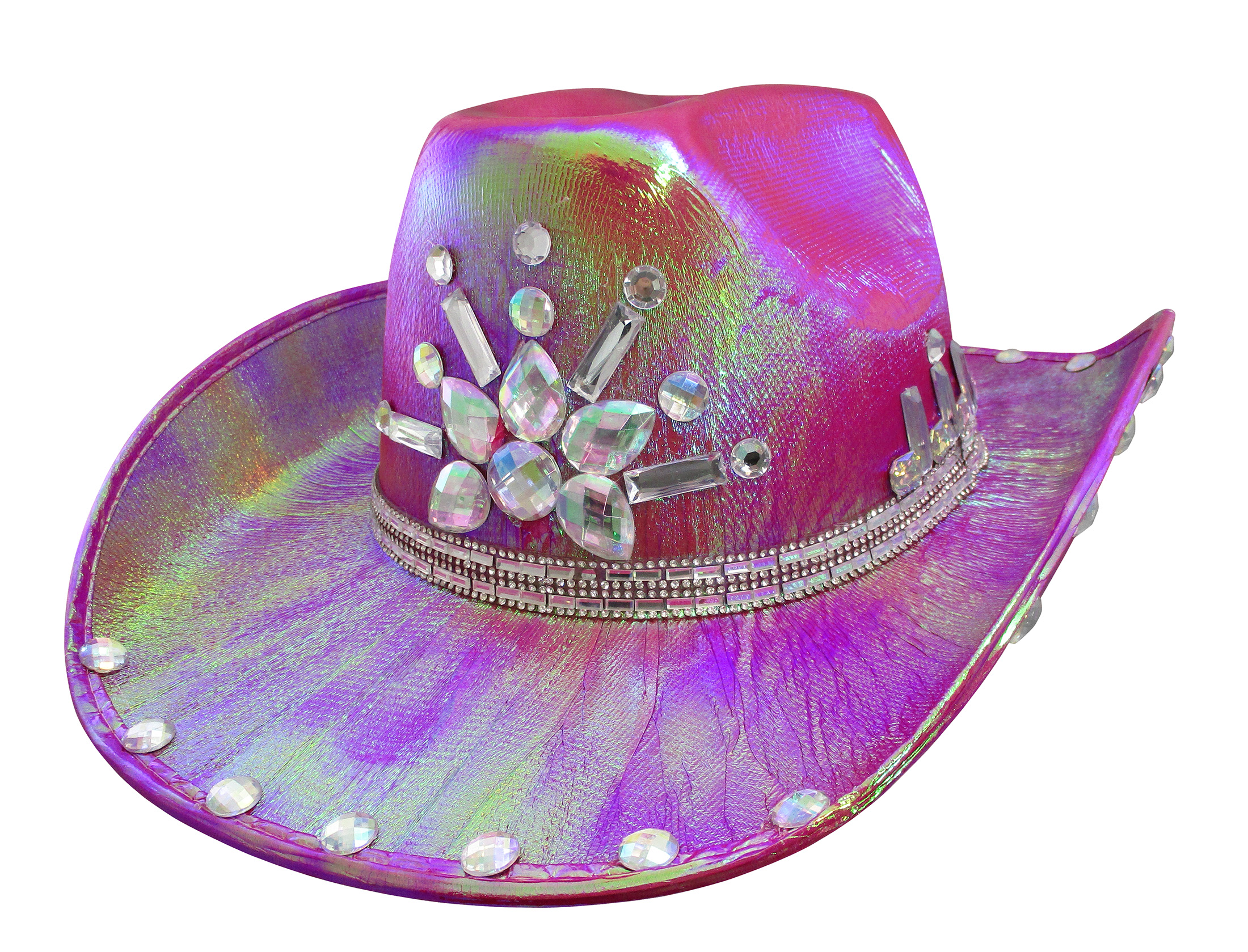 thumbnail 10 - Iridescent-Jewels-Gems-Gay-Pride-Festival-Bachelorette-Party-Cowgirl-Cowboy-Hat
