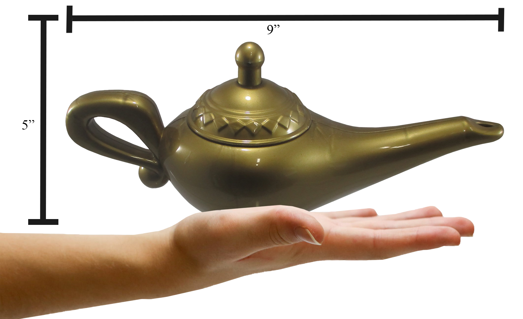 thumbnail 5 - Gold-Genie-Lamp-Plastic-Costume-Accessory-Magical-Prince-Prop-Decoration