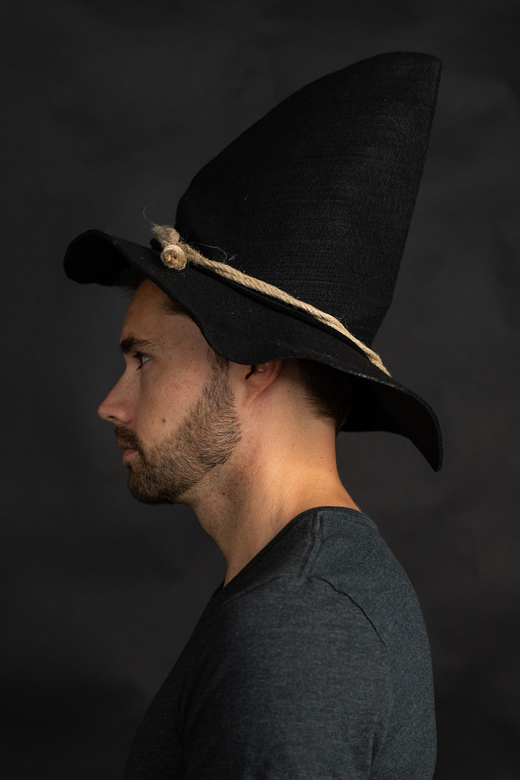 thumbnail 6 - Adult Scarecrow Hat Deluxe Felt Oktoberfest Wizard Witch Hillbilly Hat Costume