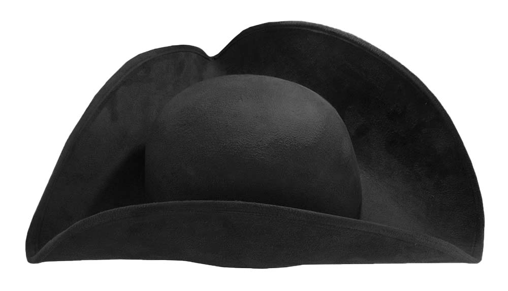thumbnail 3 - Deluxe Adult Faux Suede Colonial Pirate Tricorn Tri-Corner Tricorne Costume Hat