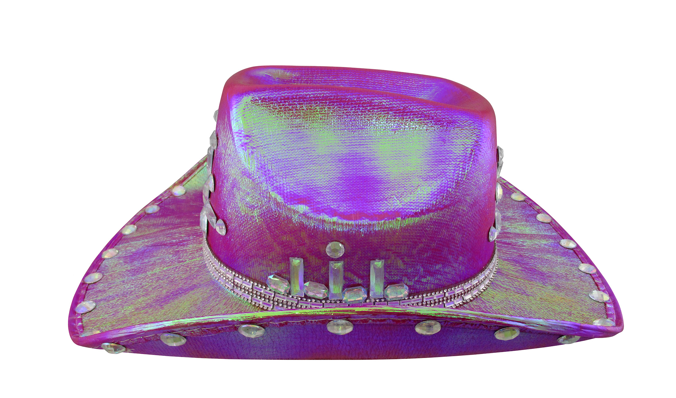 thumbnail 9 - Iridescent-Jewels-Gems-Gay-Pride-Festival-Bachelorette-Party-Cowgirl-Cowboy-Hat