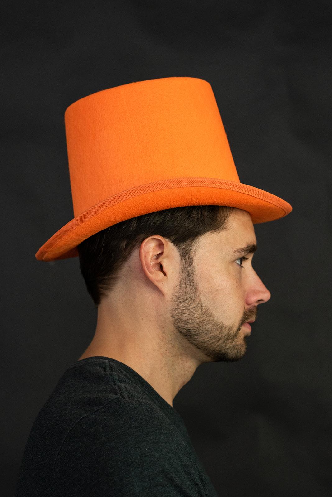 thumbnail 7 - Dumb and Dumber Orange Tall  Felt Top Hat Lloyd Christmas Costume Accessory