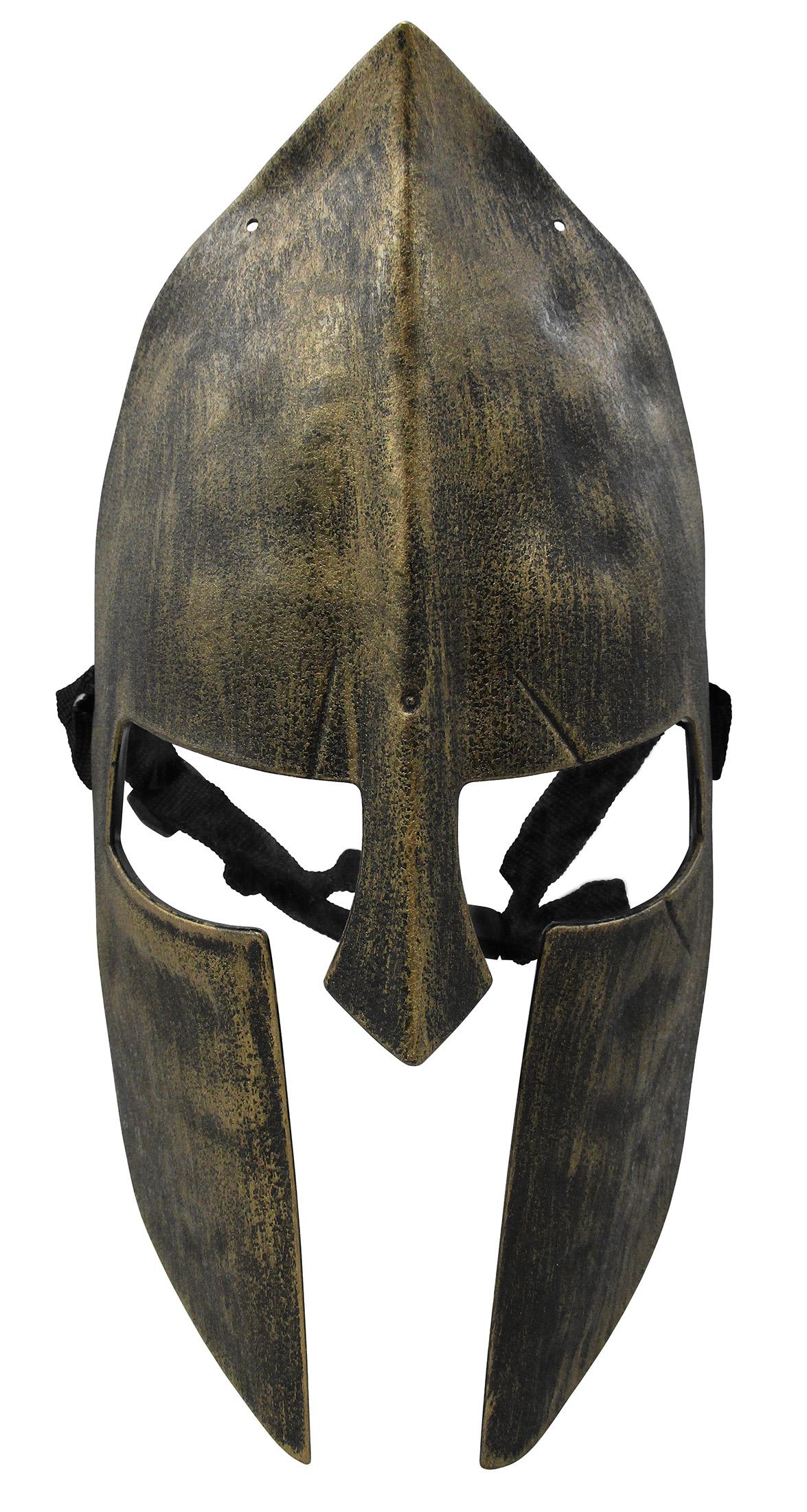 thumbnail 3 - Medieval Iron Knight Spartan Helmet Face Mask Roman Warrior Greek Costume