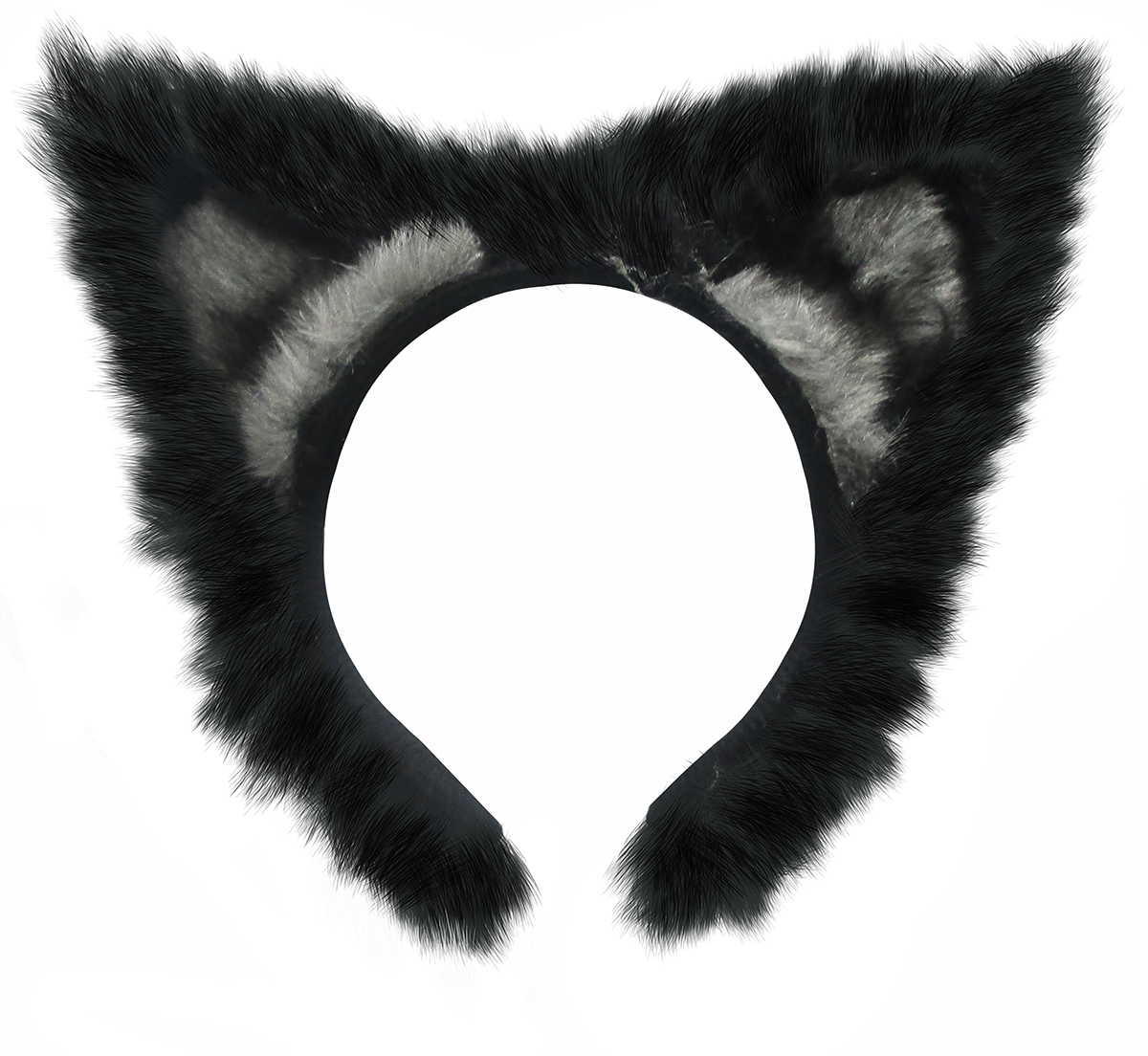 Fluffy Cat Halloween Costume with Black Ears and Tail COSPLAY NEW UNUSED