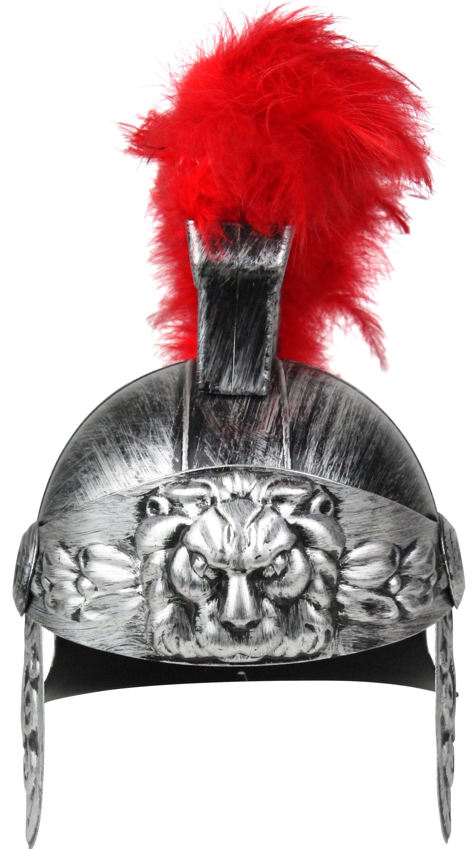 thumbnail 7 - Adult Gold Roman Helmet Spartan Greek With Red Feathers Armor Gladiator Costume