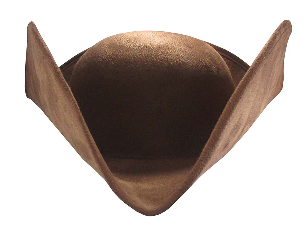 thumbnail 7 - Deluxe Adult Faux Suede Colonial Pirate Tricorn Tri-Corner Tricorne Costume Hat