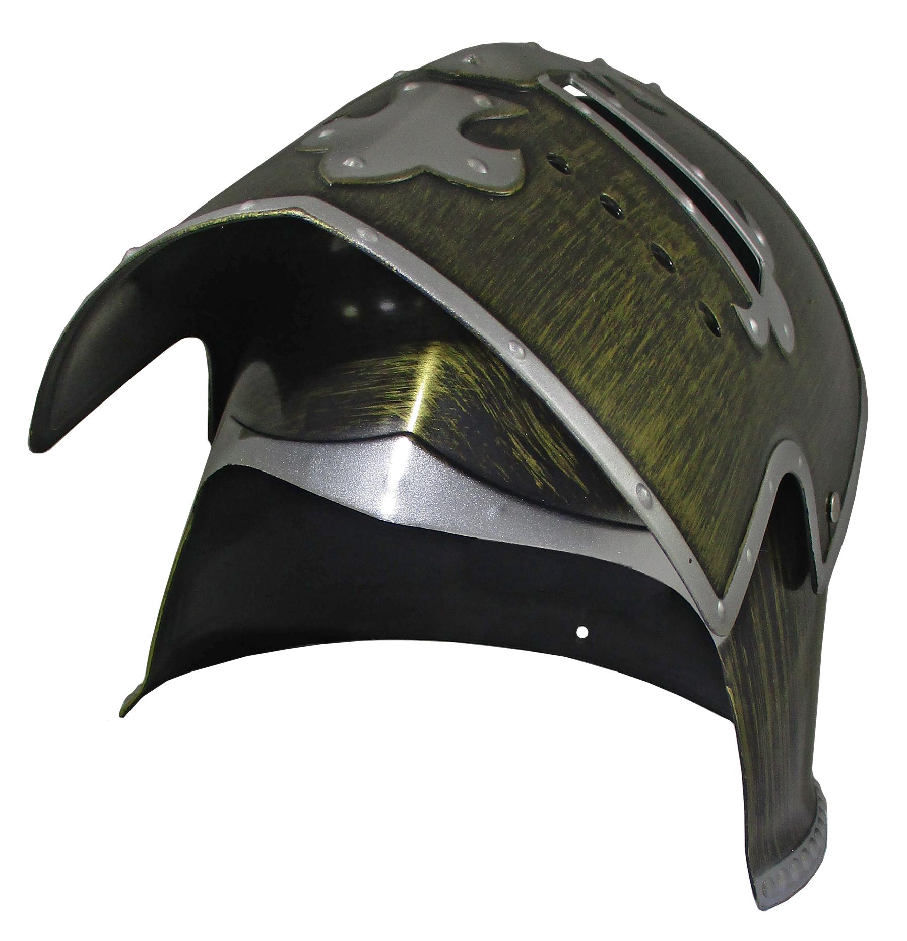 thumbnail 5 - Silver Pewter Knight Roman Armor Crusader Helmet Mask Medieval Adult Costume