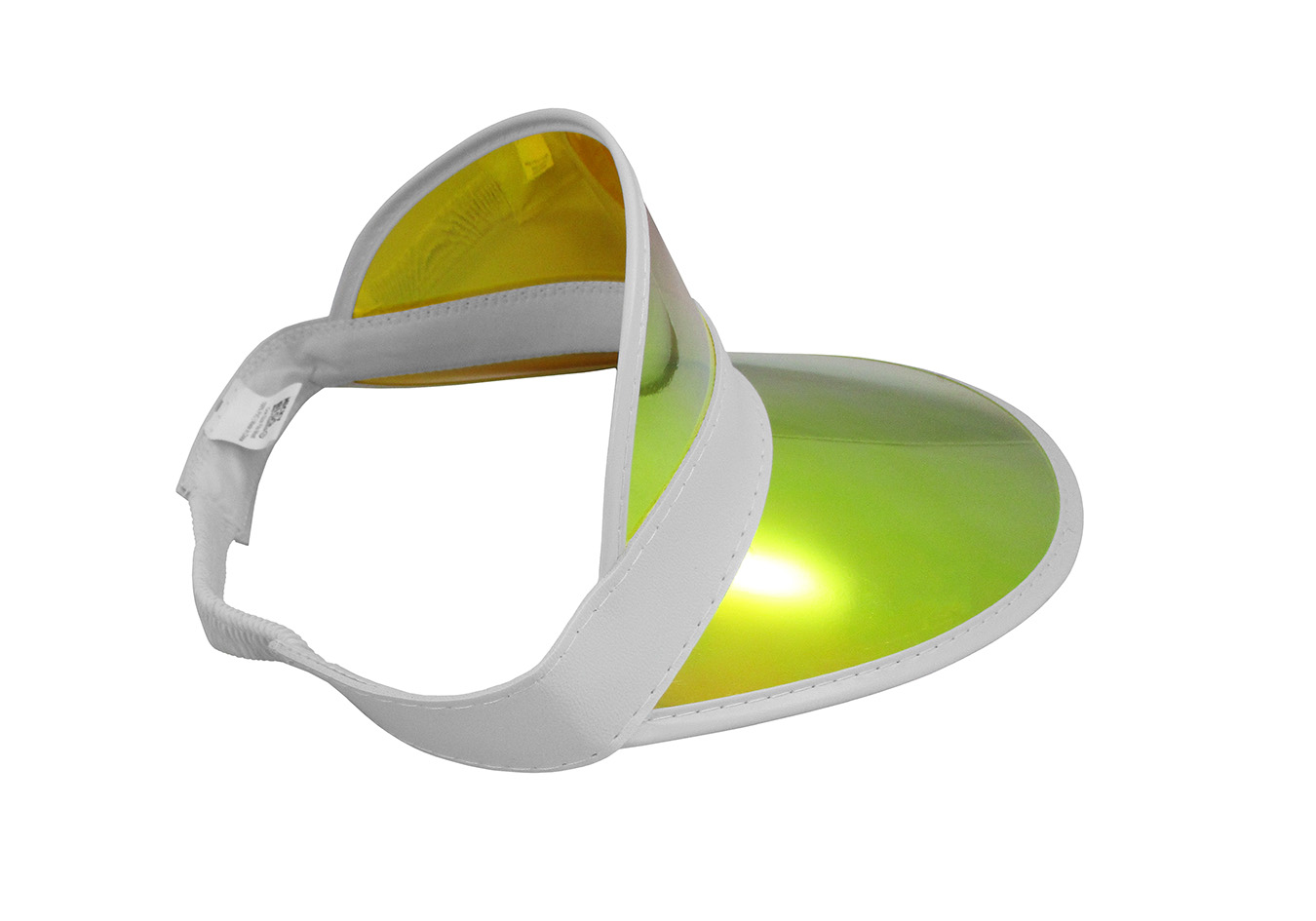 thumbnail 5 - Tennis-Beach-Iridescent-Mirrored-Plastic-Sun-Vegas-Golf-Casino-Visor-Hat-Qty-3